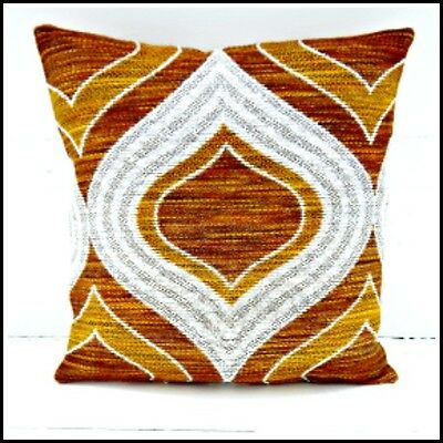 Vintage 60s 70s brown cushion cover psychedelic funky retro Heals-era hippie VW