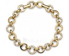 """Oliver Weber 8.5"""" Yellow Gold Circle Link Bracelet with Swarovski Crystals 2843G"""
