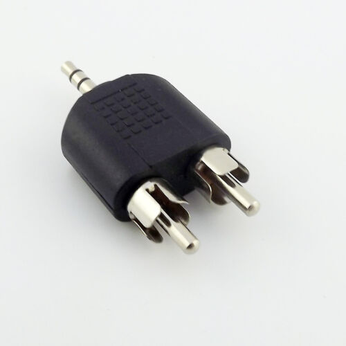 """3.5mm 1//8/"""" Male Plug Stereo To Dual RCA Male Y Splitter Audio Adapter Converter"""