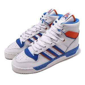 competitive price b66b7 bcf22 Image is loading adidas-Originals-Rivalry-White-Blue-Orange-Men-Basketball-