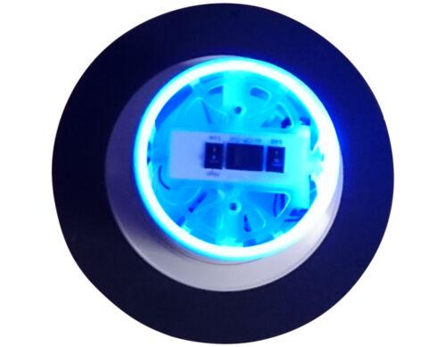 STAINLESS STEEL SOLAR FAN LED BLUE LIGHT HOME,MARINE,BOAT,MOTORHOME /& CARAVAN
