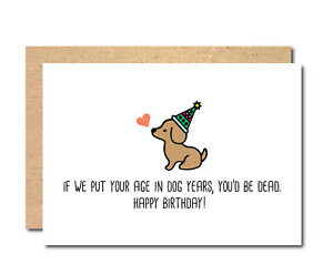 Image Is Loading Funny Birthday Card Cat Dog Personalised Female Male