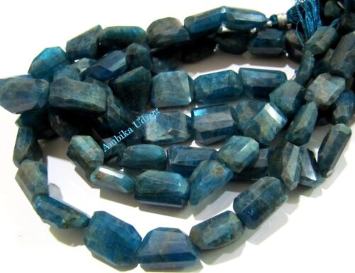 Natural Neon Apatite Laser Cut Nugget Shape Beads 10x15 to 12x17mm Strand 10inch