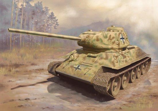 Dragon 1 72 Panzerkampfwagen German Captured T-34 85 WWII Tank Model Kit 7564