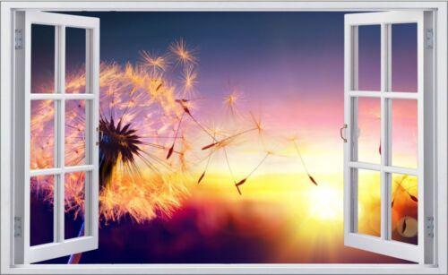 Pusteblume Natur Sonne Wiese Wandtattoo Wandsticker Wandaufkleber F0639