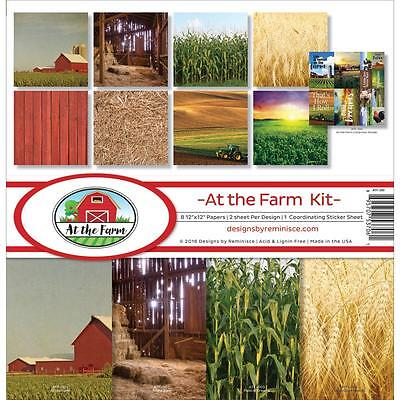 At the Farm 12x12 Scrapbooking Stickers