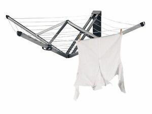 brabantia w schespinne wallfix zur wandbefestigung w schetrockner 24 m genial ebay. Black Bedroom Furniture Sets. Home Design Ideas