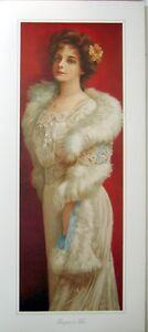 art-print-ELEGANCE-IN-FUR-tall-Victorian-lady-woman-lace-vtg-repro-13x29