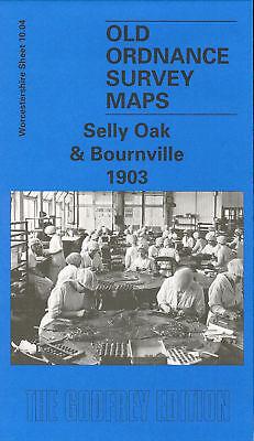 OLD ORDNANCE SURVEY MAP SELLY OAK /& BOURNVILLE 1903 FREDERICK ROAD BIRMINGHAM