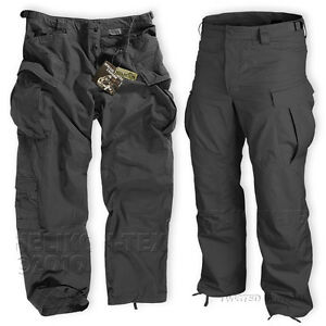 HELIKON-MENS-SPECIAL-FORCES-SFU-TROUSERS-ARMY-COMBAT-CARGO-PANTS-BLACK-TWILL