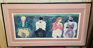 Barbara A Wood Lithograph Act 1 Framed and Matted/Signed and Numbered 374 of 975