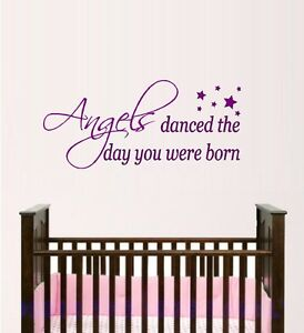 Angels Danced The Day You Were Born Wall Decal Angels