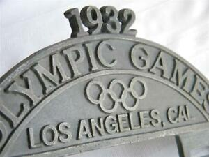 Vintage~License Plate Topper~OLYMPIC GAMES 1932~LOS ANGELES~Cal~Rat Rod~Sled~#1