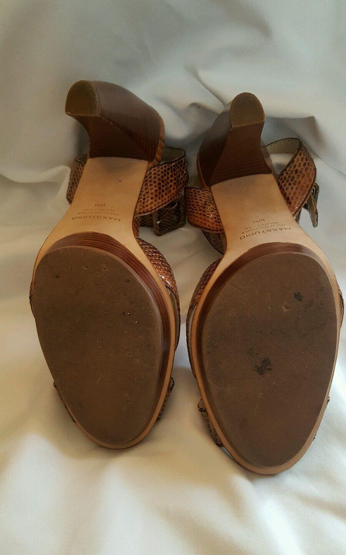 MAX STUDIO Sandals SNAKESKIN Ankle Strap Heels Heels Heels SZ 10M 3169d6