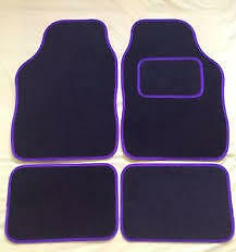 Universal Car Floor Mats With Rubber Backing Black