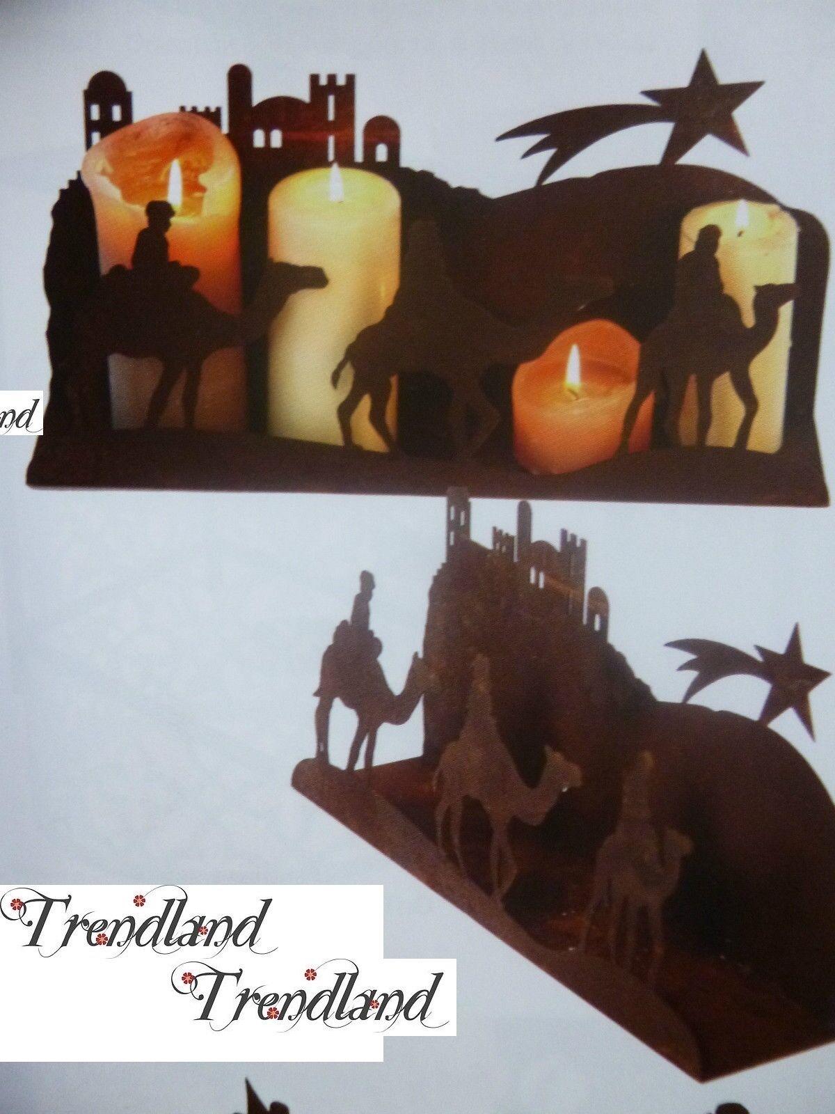 Edelrost Platte Morgenland Teelicht Dekoration Weihnachten Advent Garten Kerze  | Schenken Sie Ihrem Kind eine glückliche Kindheit