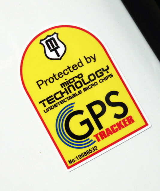 GPS Bike Cycle Cycling Bike MTB Tracker Chip Anti Theft Frame Decals Stickers