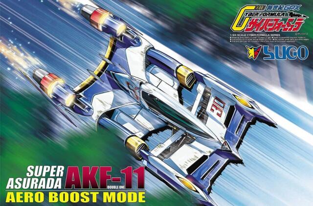 AOSHIMA CYBER FORMULA SUPER ASURADA AKF-11 AERO BOOST MODE 1/24 MODEL KIT