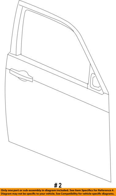 Genuine Chrysler 55176568AC Body Door Outer Panel