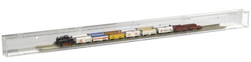 SORA Vitrine Train Mini Echelle N Compartiment Simple 99cm Dos:Réflechissant