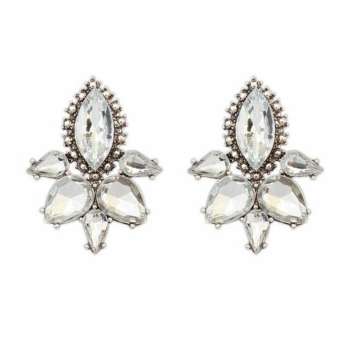 1 Paire Femme Fashion Elegant Crystal Rhinestone Ear Stud Boucles d/'oreilles Cadeau Bijoux
