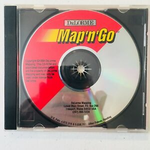 Delorme Map 'n' Go (1994, CD-ROM ) Mapping, GPS, Maps, Route ... on