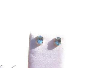 Blau-Topas-Ohrstecker-925-Silber-8x6-mm-Blue-Topaz-Earrings-Nr-E7553
