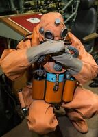 Rare russian soviet navy heavy rubber drysuit with soft boots new from stock