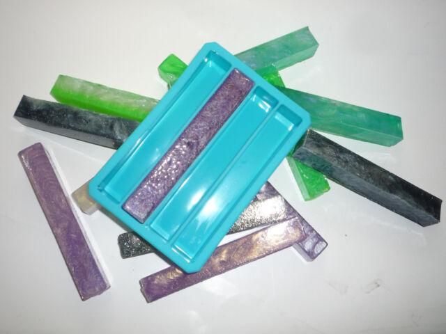 1 single silicone pen blank mold 4 cavity turning turner resin