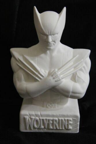 Marvel Wolverine Sem Pintura Cerâmica Bisque Figura Busto Banco de moedas KIT MODELO ESTÁTUA