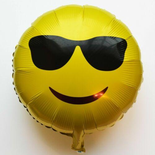 Helium Folienballons Smile Herz Kuss Emoji Zunge Bart Luftballons Brille balloon
