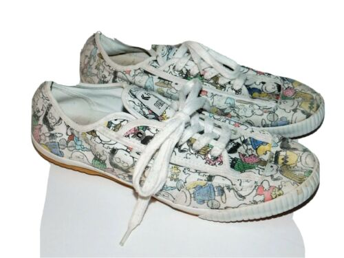 Vintage Feiyue Canvas Sneakers With Peanuts Print