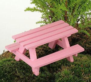 Sensational Details About Picnic Table Bench Fairy Garden Miniature Wooden Handmade By Jennifer Short Links Chair Design For Home Short Linksinfo