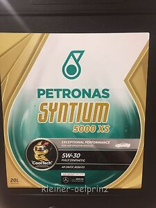20 litre petronas syntium 5000 xs 5w 30 huile moteur ll 04 mb l 39 huile ebay. Black Bedroom Furniture Sets. Home Design Ideas