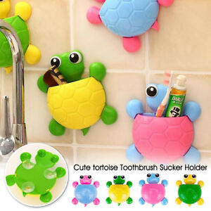 New Cute Toothbrush Holder Wall Mount Suction Cup Tooth paste Bathroom Storage