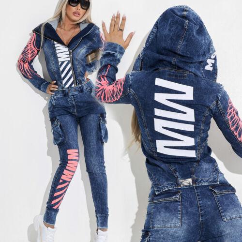 High-Waist Jeans Cargojeans 34-36 By Alina Mexton Damen 2-Teiler Jeansjacke