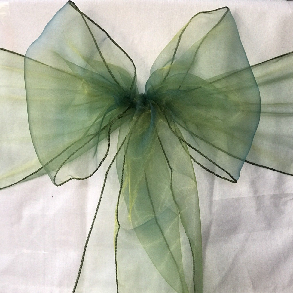Emerald Grün organza chair sashes tie chair bow ribbon wedding birthday decor