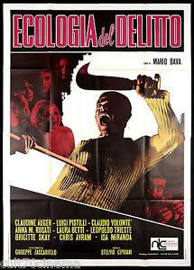 ECOLOGIA DEL DELITTO MANIFESTO CINEMA MARIO BAVA HORROR THRILLER 1971 POSTER 4F