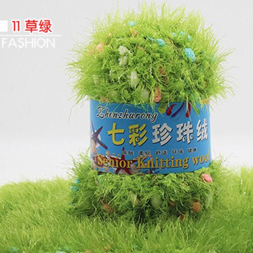 100g yarn Baby Chunky Hand Mink Cashmere Knit Crochet Fluffy Wool Colorful yarn