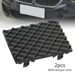 Pair-Front-Bumper-Lower-Mesh-Grill-Grille-Trim-Cover-For-BMW-E60-E61-M-Sport
