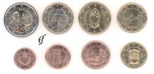 San Marino Kursmünze - wählen Sie von 1 Cent - 2 Euro und alle Jahre - Neu