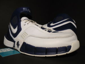 cfdaf0fbd33f 2006 NIKE ZOOM AIR HUARACHE ELITE TB WHITE NAVY BLUE CHROME 2K5 ...