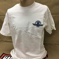 Harley-davidson White S/s Scott Jacobs reflections On Canvas Art T-shirt M