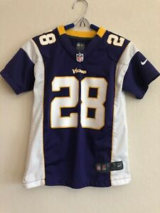 Details about Adrian Peterson MINNESOTA VIKINGS # 28 NIKE Replica NFL Jersey YOUTH S PURPLE