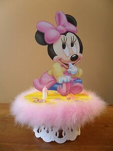Baby Minnie Mouse Cake Topper Baby Shower Centerpiece eBay