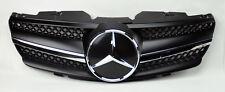 Mercedes SL Class R230 1 Fin Front Black w/ Chrome Hood Sport Grill W230