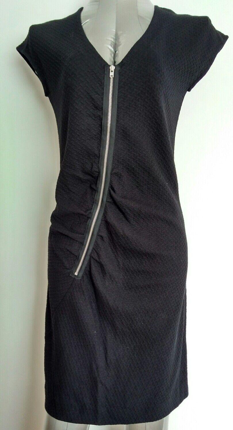 COS texturot jersey dress Größe S -NEW-schwarz asymmetric zip curvy flattering fit