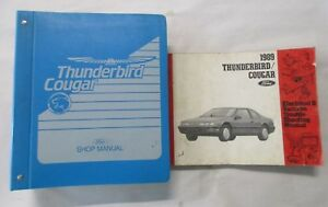image is loading 1989-ford-thunderbird-cougar-service-shop-manual-amp-