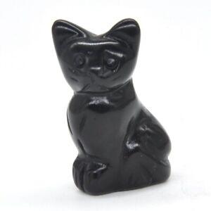 1-5-034-Stone-Carving-Cat-Figurine-Black-Obsidian-Crystal-Healing-Gemstone-Decor