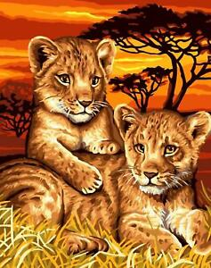 Grafitec Printed Tapestry/Needlepoint Canvas – Lion Cubs